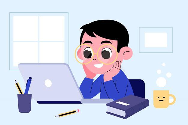 kids-online-lessons-concept