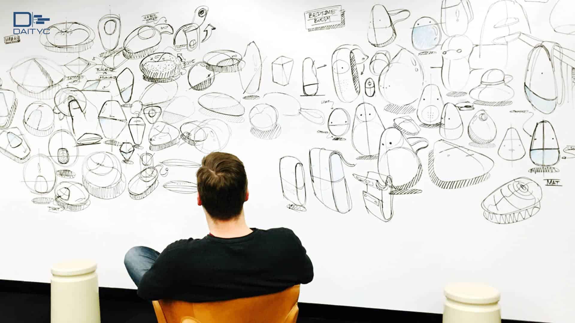 ارتباط طراحی با تکنیک طوفان ذهنی